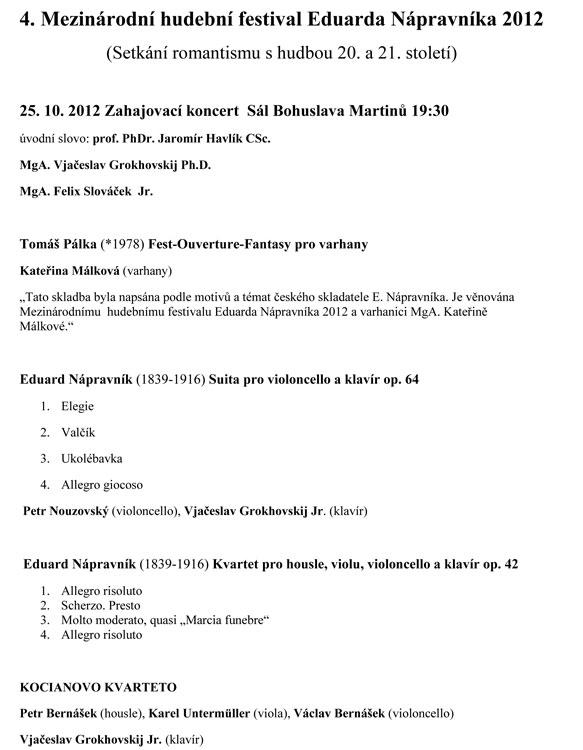 picture 4. Mezinárodní hudební festival Eduarda Nápravníka