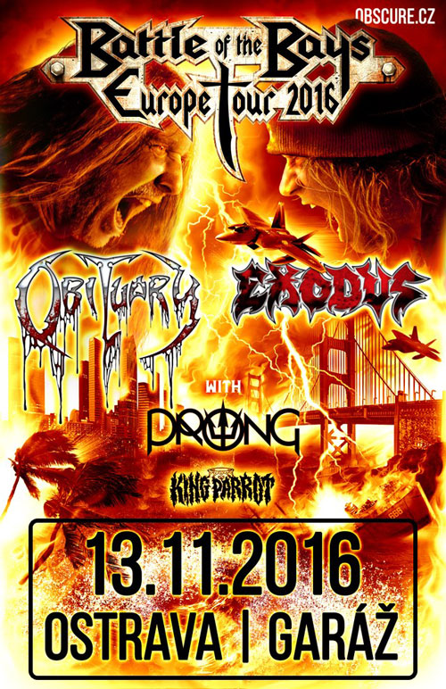 picture OBITUARY (USA) & EXODUS (USA)