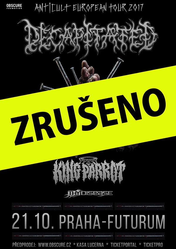 picture DECAPITATED (PL) + KING PARROT (AUS) + THY DISEASE