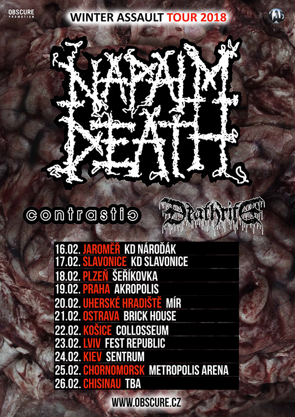 picture NAPALM DEATH (UK) - WINTER ASSAULT TOUR 2018