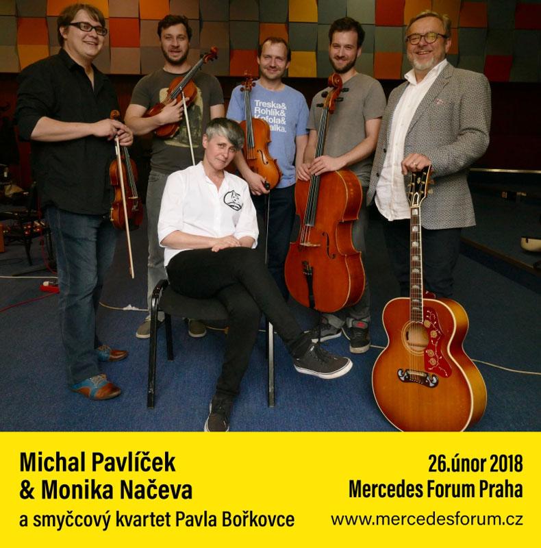 picture MICHAL PAVLÍČEK a MONIKA NAČEVA a smyčcový kvartet