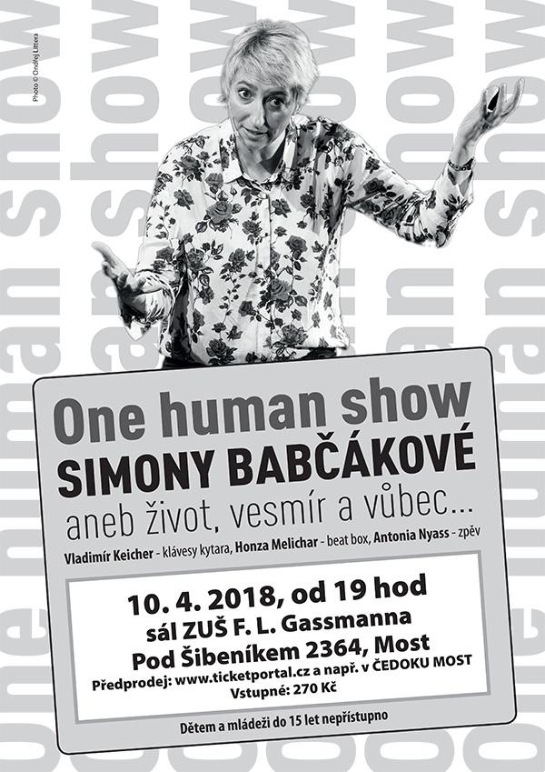 picture SIMONA BABČÁKOVÁ - ONE HUMAN SHOW