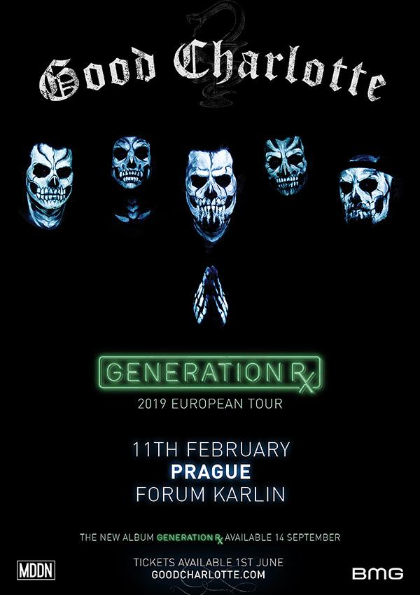 picture GOOD CHARLOTTE / US - Generation Rx Tour 2019