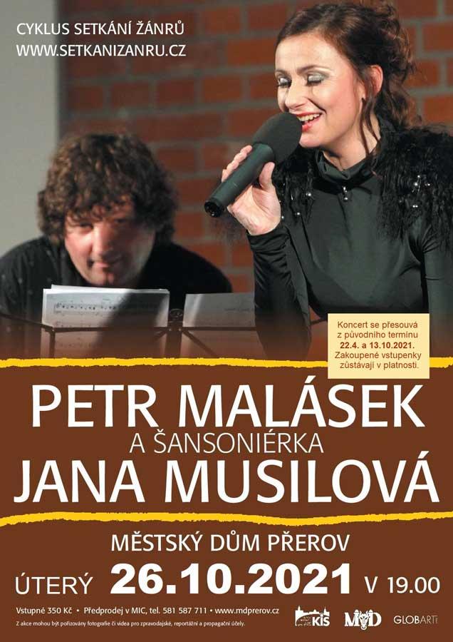 picture Petr Malásek s šansoniérkou Janou Musilovou