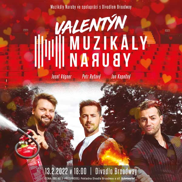 MUZIKÁLY NARUBY – Valentýnský koncert  - J.Vágner, J.Kopečný, P.Ryšavý