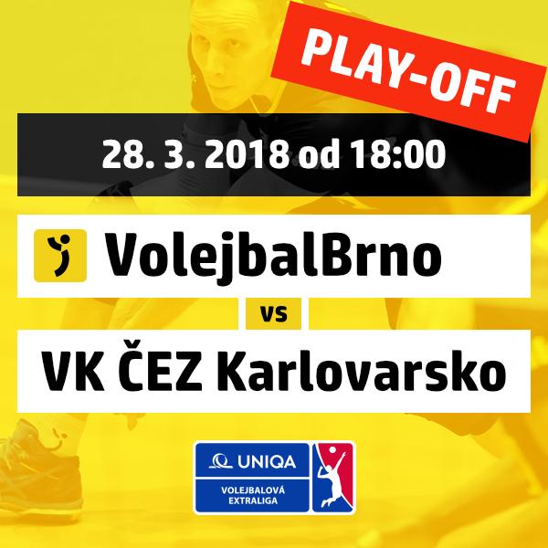 VolejbalBrno vs. VK ČEZ Karlovarsko / PLAY-OFF