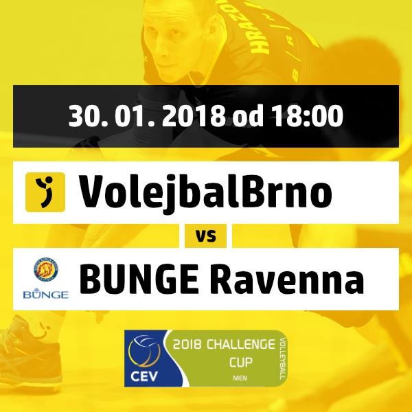 Volejbal Brno vs. Bunge Ravenna
