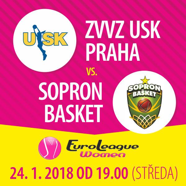 ZVVZ USK Praha - Sopron Basket