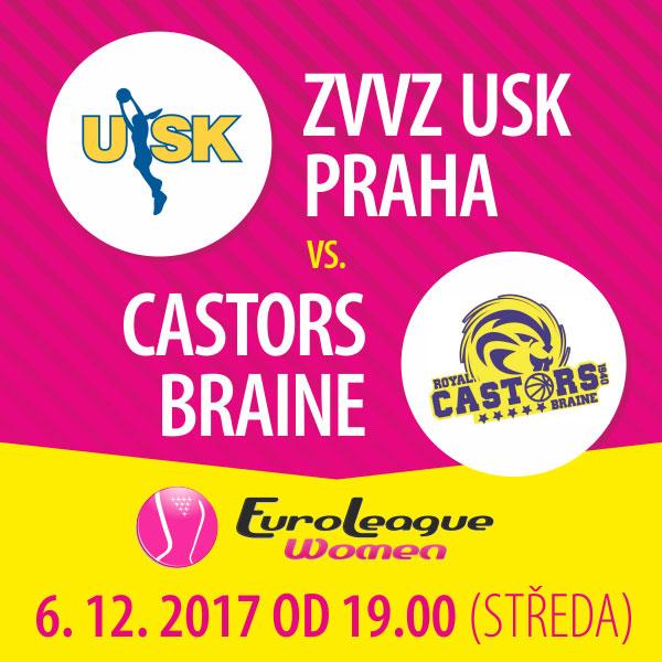 ZVVZ USK Praha – Castors Braine