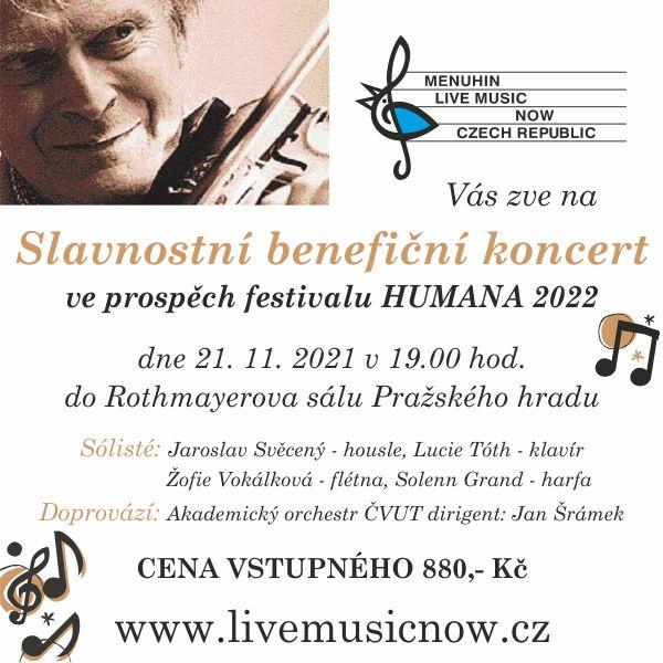 Slavnostní koncert pro festival HUMANA 2022