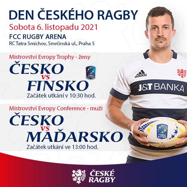 Den českého ragby: ČESKO vs FINSKO a ČESKO vs MAĎARSKO