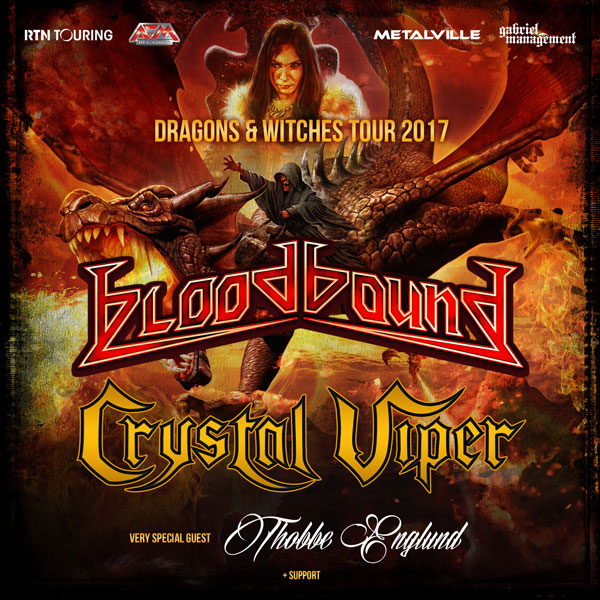 BLOODBOUND (Swe): Dragons & Witches Tour 2017