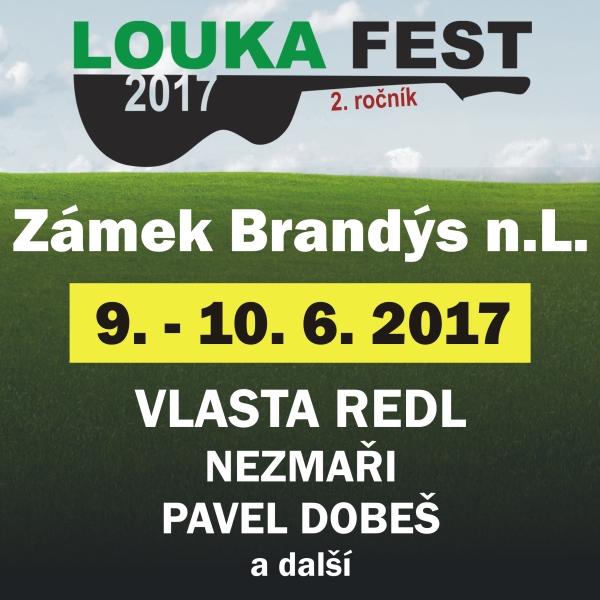 LOUKA FEST 2017, open air festival v Brandýse n/L.