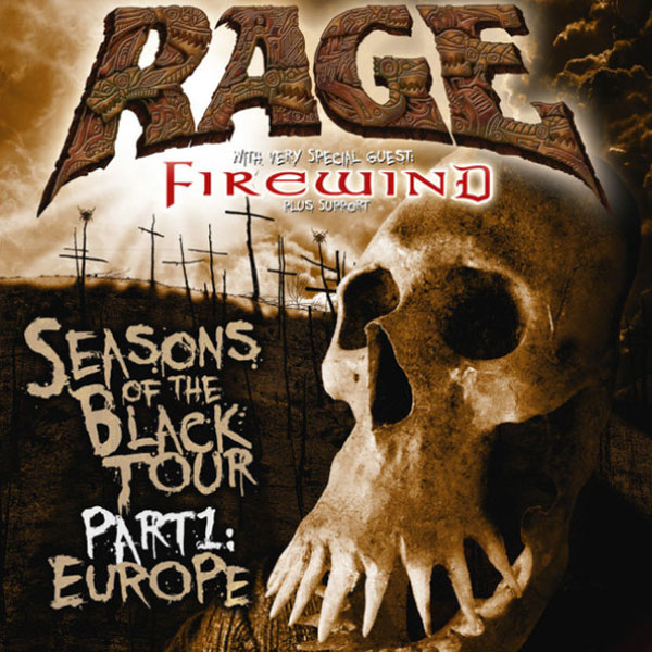 RAGE (DE) - Seasons of the Black Tour 2018