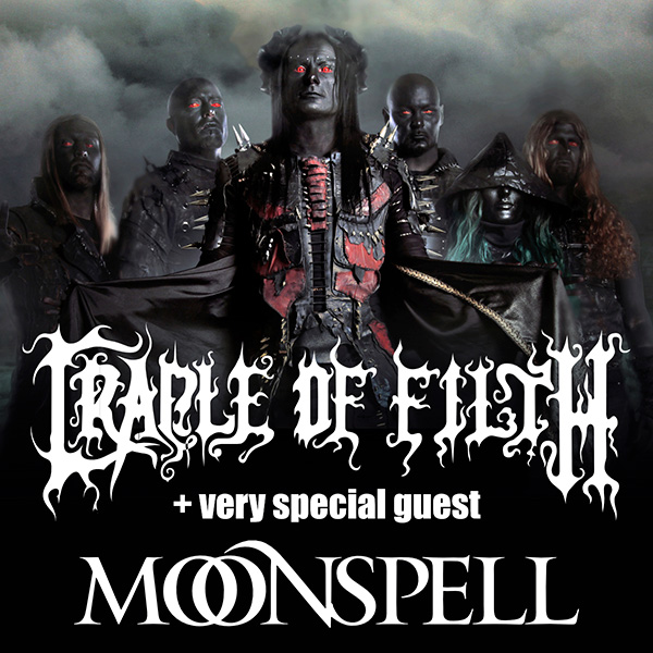 CRADLE OF FILTH (UK) + guest Moonspell (PT)