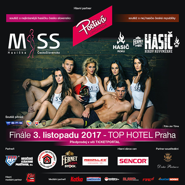Miss Hasička ČeskoSlovensko & Hasič roku 2017