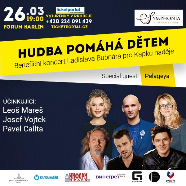 Benefiční koncert Ládi Bubnára pro Kapku Naděje
