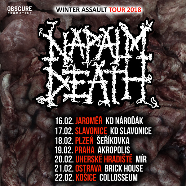 NAPALM DEATH (UK) - WINTER ASSAULT TOUR 2018