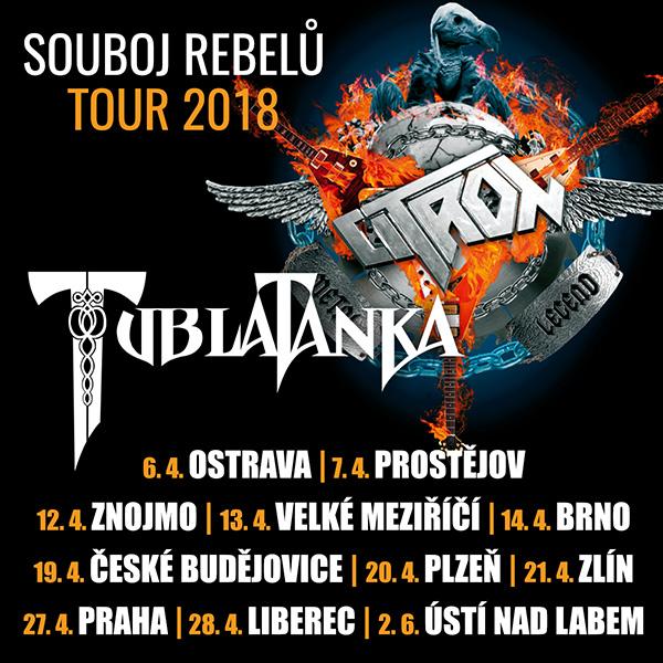 CITRON & TUBLATANKA - SOUBOJ REBELŮ TOUR 2018