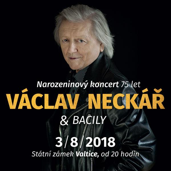 VÁCLAV NECKÁŘ & BACILY narozeninový koncert 75 let