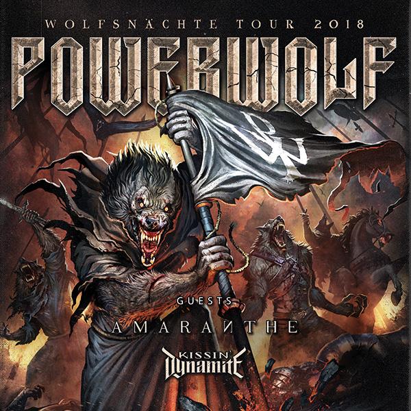 POWERWOLF (DE) - WOLFSNÄCHTE TOUR 2018