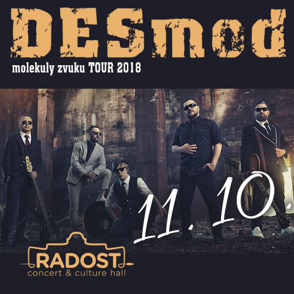 DESMOD molekuly zvuku tour 2018 - koncert v Brně -RADOST, Cejl 254/52, Brno