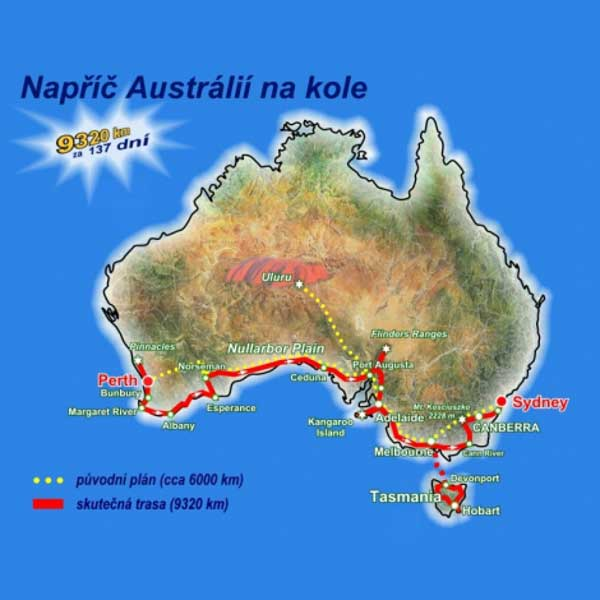 Martin Stiller - Australií na kole