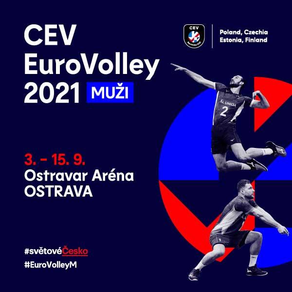 CEV EuroVolley 2021: osmifinále SLO - CRO, FRA - CZE