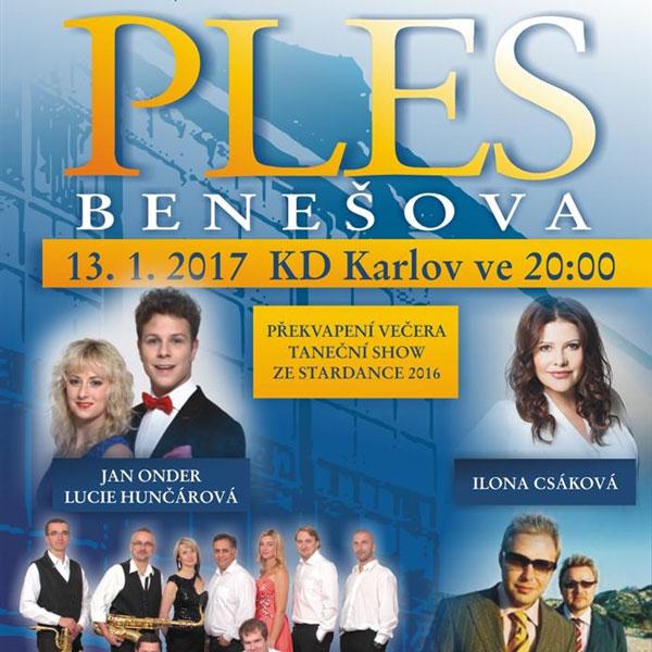 Ples Benešova 2017